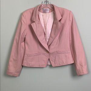 Pendleton 100% Wool Blazer Petite Soft Pink EUC